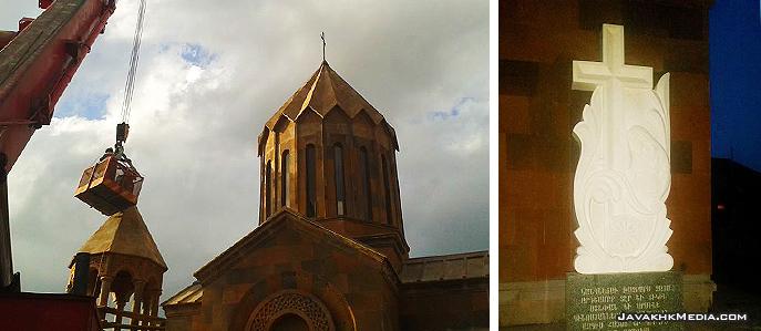 Մեծ Արագյալի կառուցվող հոյակերտ եկեղեցու վրա տեղադրվեց խաչ իսկ մուտքի մոտ՝ խաչքար