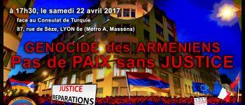 (Français) N. Lygeros: Meeting pour la Justice et la Paix. Face au consulat de Turquie à Lyon. 22/4/17
