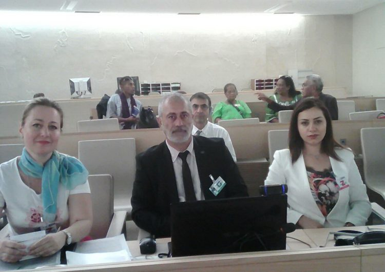 The official delegation of Western Armenia during the 10th session of the Expert Mechanism on the Rights of Indigenous Peoples