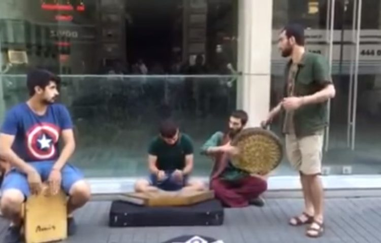 Armenian guys sing Armenian song in Turkey