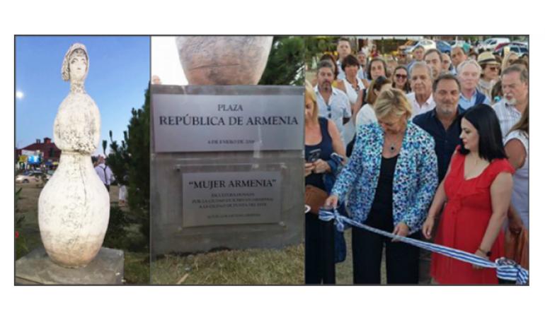 (Western Armenian) Ուրուկուէյ. Բացուած է «Հայաստանի հանրապետութիւն» անուան հրապարակ