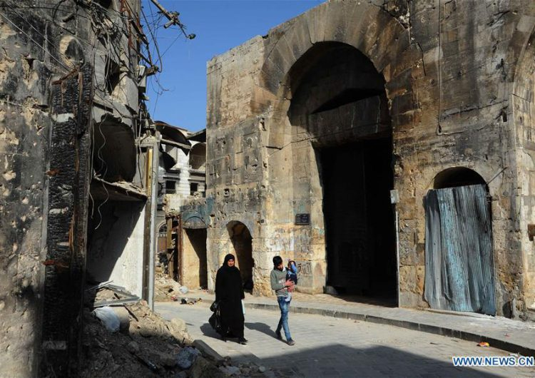 Feature: War, destruction unveil hidden historic relics in Syria's Aleppo