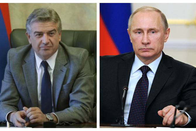 Состоялся телефонный разговор президента России с и.о. премьер-министра Республики Армения