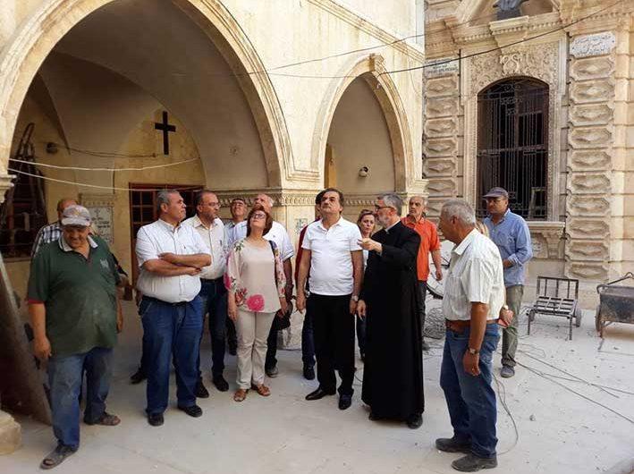 Հալէպի նահանգապետը այցելեց վերանորոգուող Սրբոց Քառասնից Մանկանց Մայր Եկեղեցի