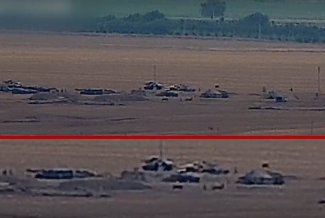Moves of Personnel and Equipment Detected Close to Line of Contact