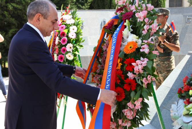 President of Artsakh attends events dedicated to 25th anniversary of liberation of Martakert town