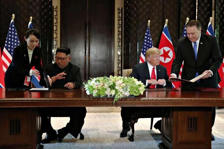 Kuzey Kore'yle anlaşmayı imzalayan Trump: Kim'le aramızda özel bağ kuruldu