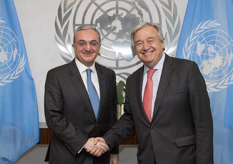 Պահպանել զինադադարն ու հրաժարվել ագրեսիայից. Զոհրաբ Մնացականյանը ՄԱԿ–ում խոսել է Արցախի մասին