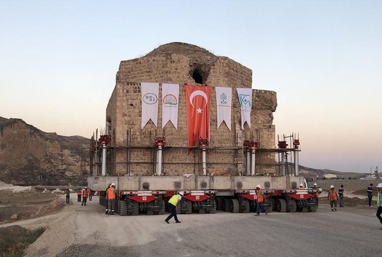 Tarih yerinden edildi: Hasankeyf'teki Artuklu Hamamı da taşındı