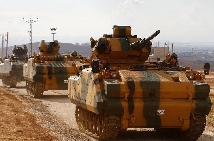 Թրքական բանակը դէպի Սուրիոյ սահման լրացուցիչ սպառազինութիւն կ՛ուղարկէ