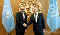 Նիկոլ Փաշինյանը հանդիպում է ունեցել ՄԱԿ-ի գլխավոր քարտուղար Անտոնիո Գուտերեշի հետ