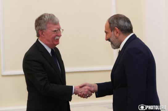 И.о. премьер-министра Армении Никол Пашинян прокомментировал встречу с советником президента США по национальной безопасности – Джоном Болтоном в Ереване.
