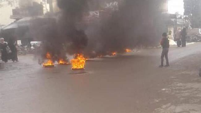 Массовые протесты в Джерлабусе  против террористических групп, поддерживаемых Турцией.