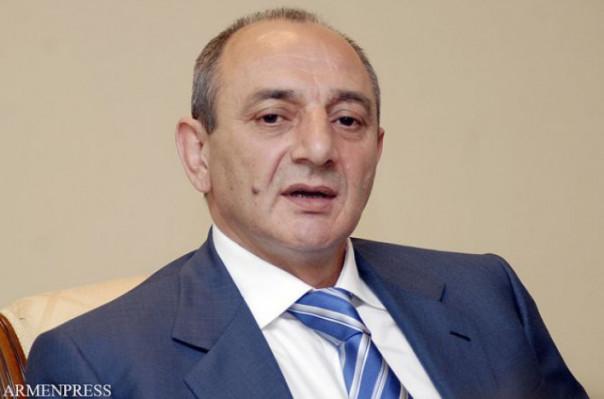 Bako Sahakyan Rusya'da yaşayan Ermeni işadamlarıyla Moskova'da bir görüşmede bulundu