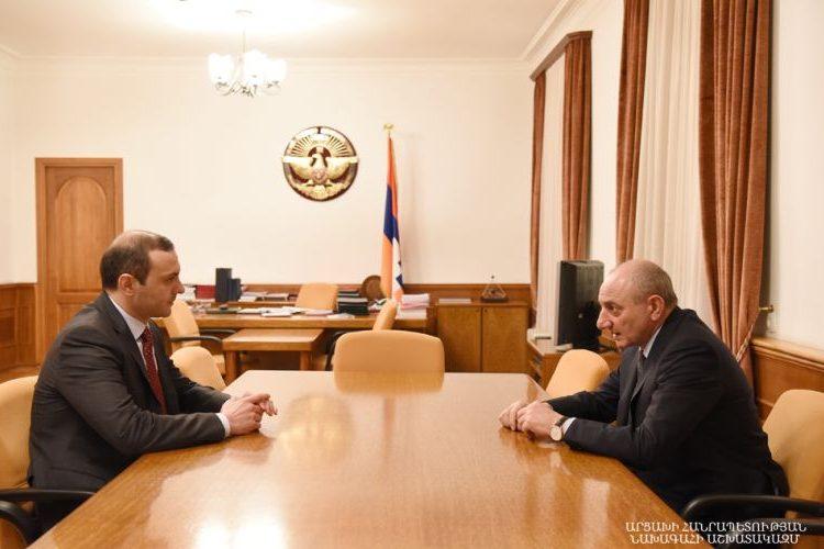 Bako Sahakyan, Armen Grigoryan'la görüştü