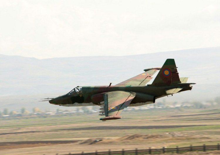 Ուսումնամարզական թռիչքի ժամանակ կործանուած է ՀՀ ԶՈՒ ՍՈՒ-25 ինքնաթիռը