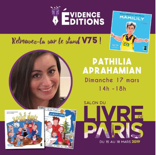 Salon du Livre de Paris du 15 au 18 mars 2019