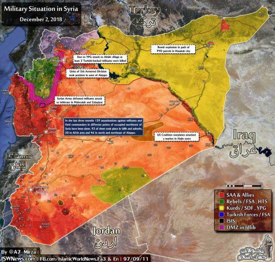 Սուրիական Պատերազմի Նոր Քարտէսը՝ Դեկտեմբեր Ամսուայ Դրութեամբ
