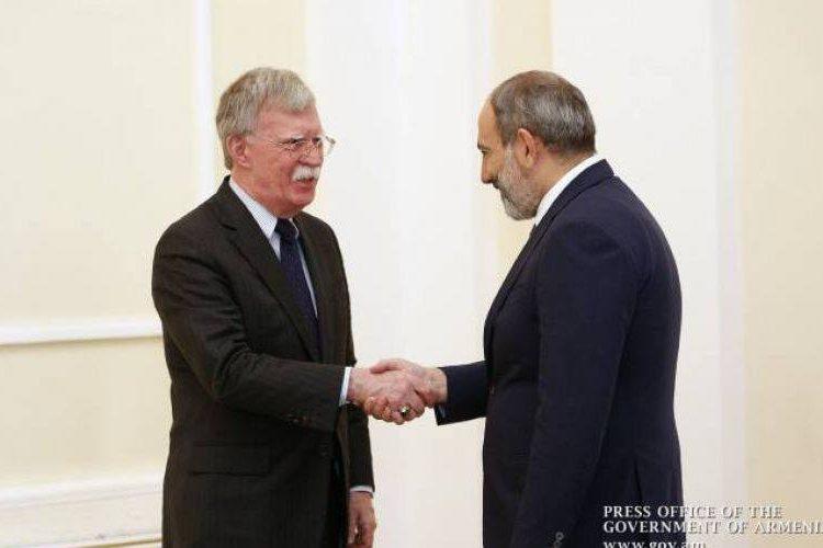 ԱՄՆ-ը կ'աջակցի Հայաստանին' բարգաւաճ ապագայ ապահովելու Փաշինեանի ջանքերուն. Ջոն Բոլթոն
