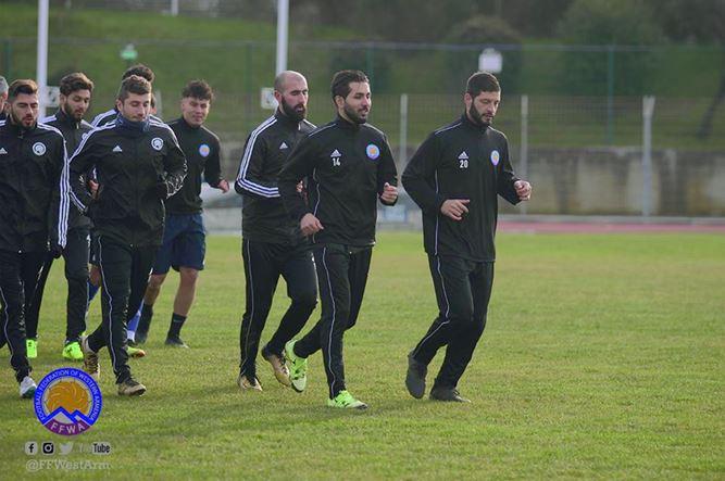 Արեւմտյան Հայաստանի ֆուտբոլի ազգային հավաքականը սկսել է հավաքը Հարություն Վարդանյանի գլխավորությամբ
