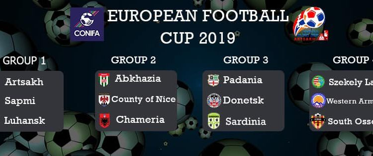 2019 CONIFA EUROPEAN FOOTBALL CUP DRAW
