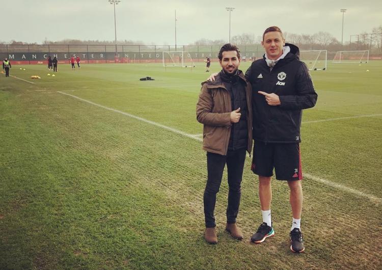 Капитан сборной Западной Армении Грач Яган на базе «Манчестер Юнайтед»