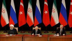 В Сочи состоялась трехсторонняя встреча президентов России, Ирана и Турции