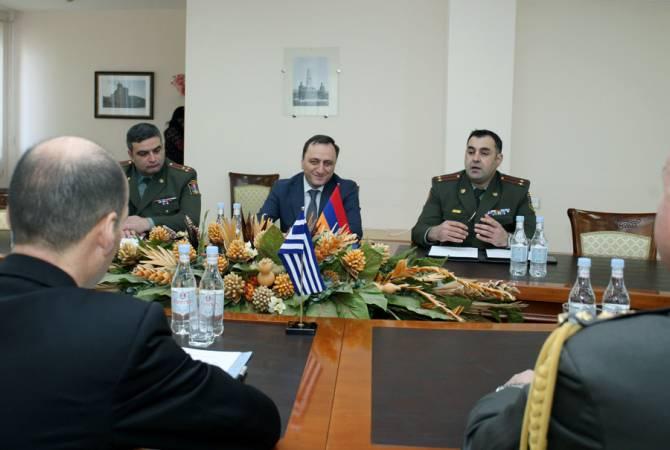 Ստորագրուեր է հայ-յունական ռազմական համագործակցութեան 2019թ.-ի ծրագիրը