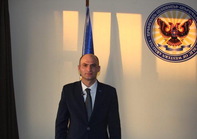 Поздравительная речь спикера парламента Западной Армении