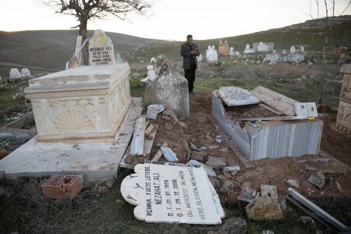 Բաթմանի մէջ եզիդական գերեզման մը ոչնչացուեր է