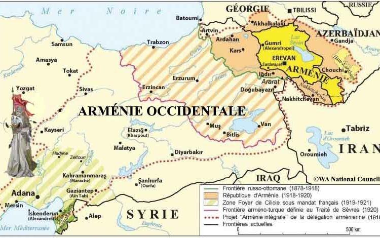 La Turquie, l'Arménie Occidentale et  les républiques du Caucase du Sud