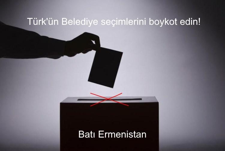Le peuple d'Arménie Occidentale n'a pas à participer  aux prochaines élections turques