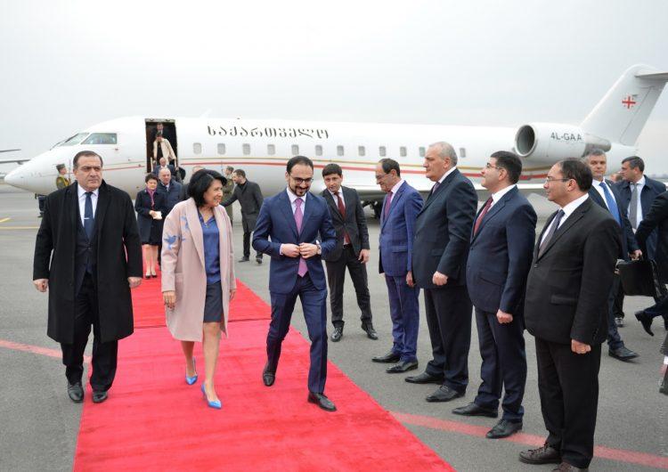 Վրաստանի նախագահը ժամաներ է Հայաստան