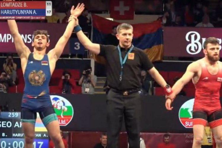 Арсен Арутюнян стал чемпионом Европы