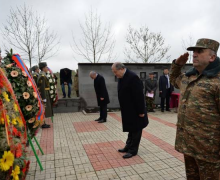 Presidents of Armenia and Artsakh participated at the unveiling of the monument dedicated to Maghavouz village residents who fell in the Artsakh War