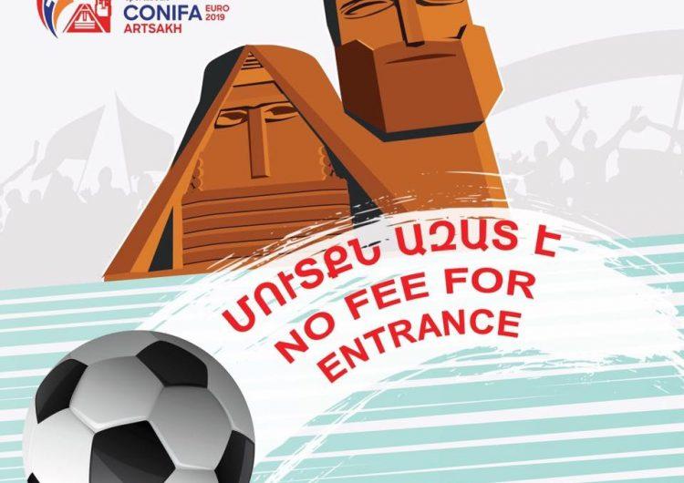 Արցախի մէջ կայանալիք ConiFA-ի առաջնութեան խաղերու, ինչպէս նաեւ բացման եւ փակման արարողութիւններու բոլոր տոմսերը անվճար են