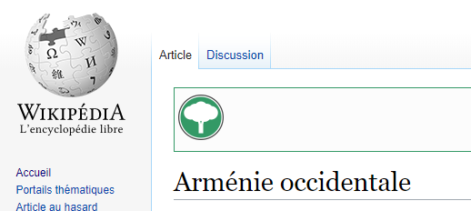 Guerre d'édition concernant l'Arménie Occidentale sur Wikipédia