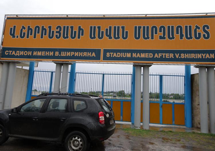 Artsakh Cumhuriyeti Martakert Stadyumun inşaat işleri tamamlandı