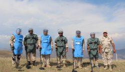 Suriye'de insani misyon gerçekleştiren Ermenistan Cumhuriyeti mayın arayıcıları, 8-25 Haziran günleri arasında 1.650 metrekarelik araziyi mayından temizledi