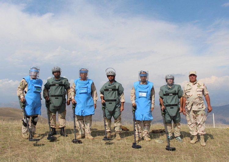 Армянские саперы, осуществляющие гуманитарную миссию в Сирии, с 8 по 25 июня разминировали территорию в 1650 кв. м