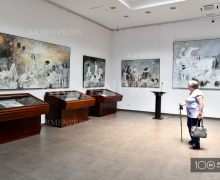The paintings of Jansem on genocide were presented at the newly opened gallery of the Genocide against Armenians Museum-Institute