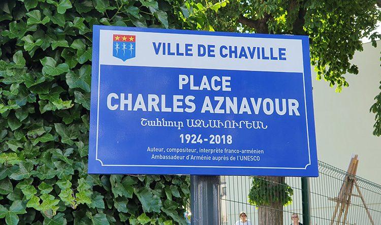 Charles Aznavour Meydanı, Fransa'daki Chaville şehrinde açıldı