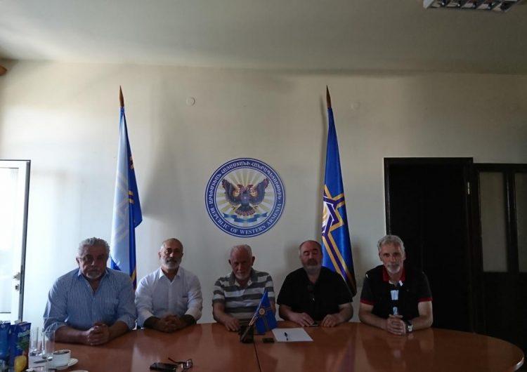Встреча президента Арменака Абрамяна с Вааном Ширханяном