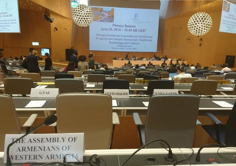 Конгресс армян Западной Армении присутствует на заседании Комитета ВОИС