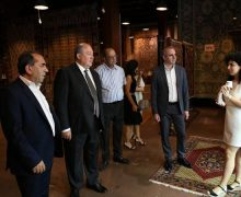 President Sarkissian visits Megerian Carpet in Yerevan