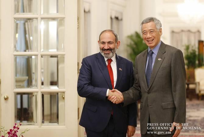 Никол Пашинян встретился с премьер-министром Сингапура