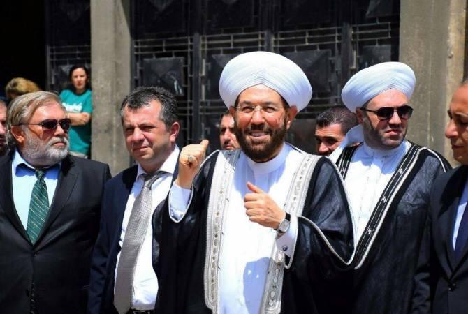 Suriye Baş Müftüsü, Ermenistan Cumhuriyeti'ne insani misyonu için teşekkürlerini sundu.
