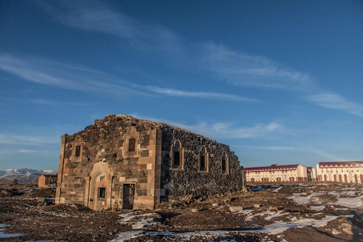 The church of St. Minas of Erzrum, Western Armenia became an object of vandalism