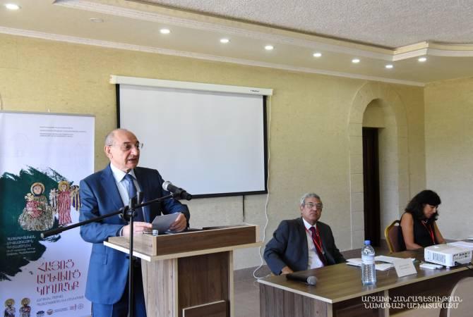 Бако Саакян присутствовал на церемонии открытия международной конференции