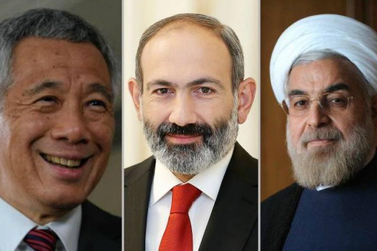 Paşinyan, İran Cumhurbaşkanı ile Singapur Başbakanı'nı Avrasya Ekonomik Teşkilatı Yüksek Konseyi toplantısına davet etti